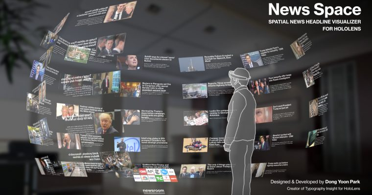 News Space for HoloLens: Spatial News Headline Visualizer