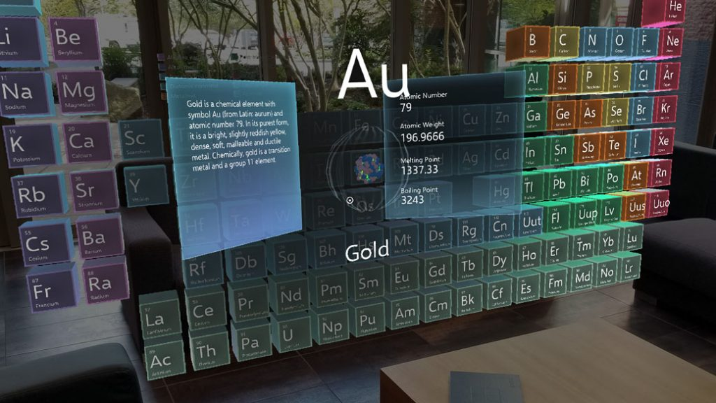 Periodic Table for HoloLens