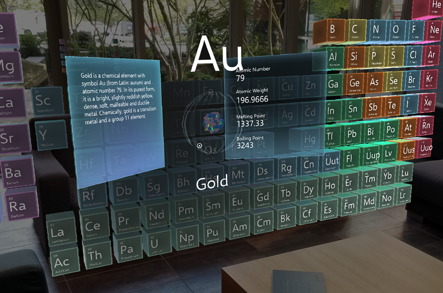 PeriodicTable for HoloLens