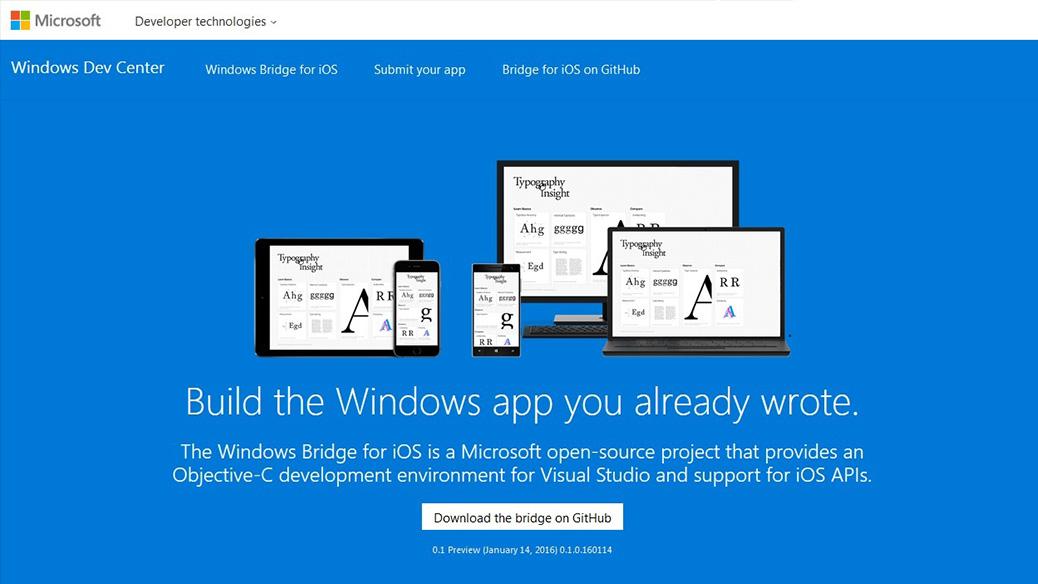 Windows Bridge For IOS