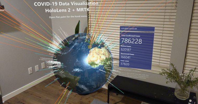 COVID19 Data Visualization with HoloLens 2 +MRTK